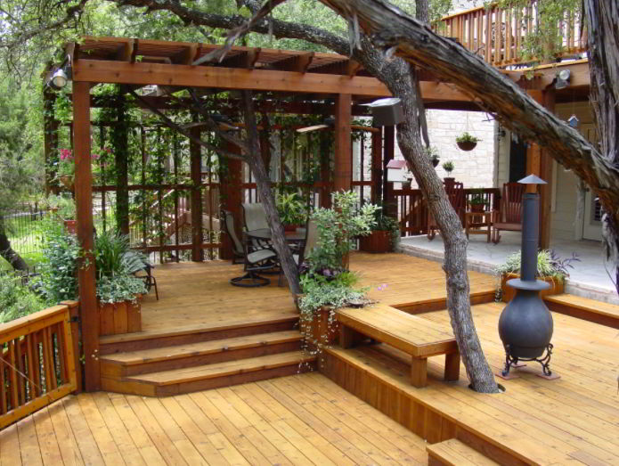 Forest-Like Covered Deck Ideas