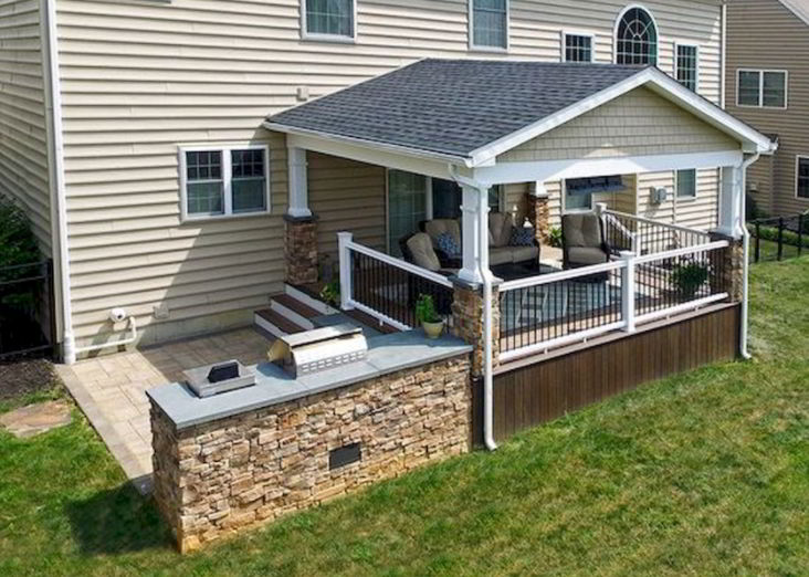 Gable Roof Covered Deck Ideas
