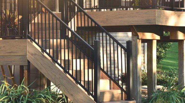 Stunning Metal Stairs Deck