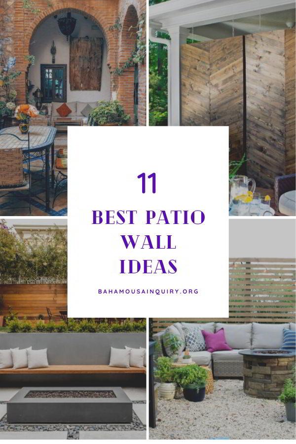 Best patio wall ideas