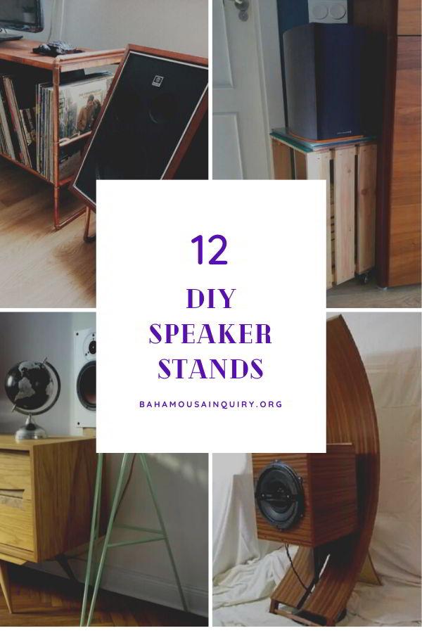 Diy speaker stand ideas