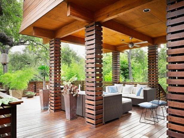 unique covered deck design