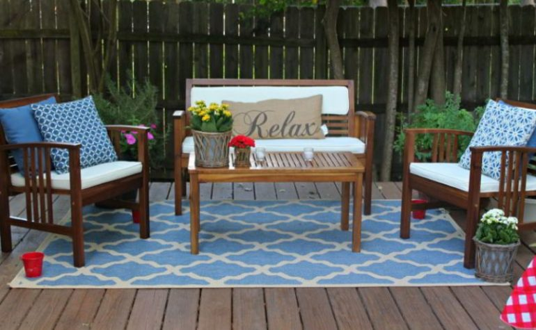 Carpet for furniture deck ideas