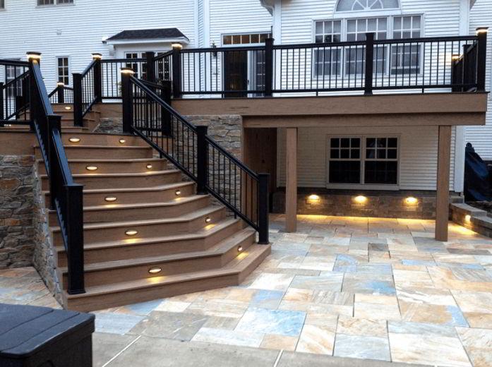 Lighting for deck furniture