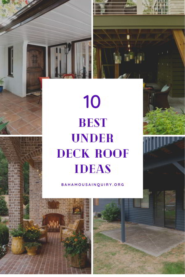 Best under deck roof ideas