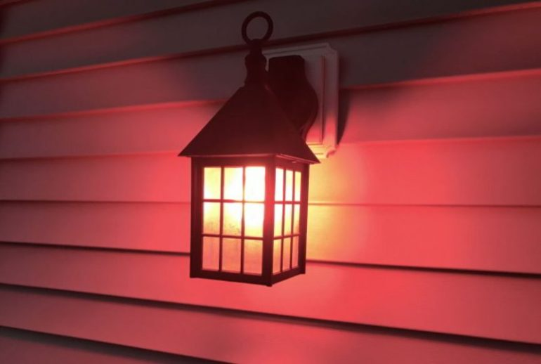 red porch light mean