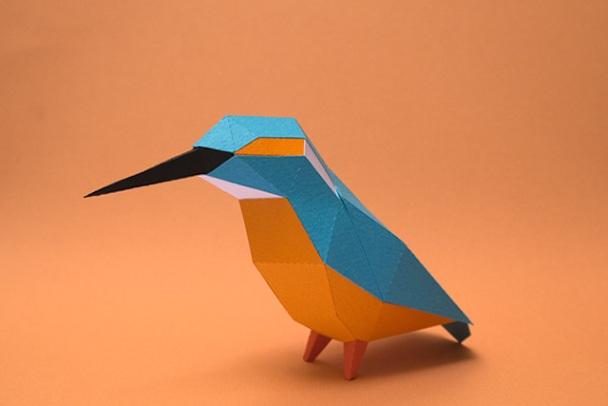 kerajinan kertas burung