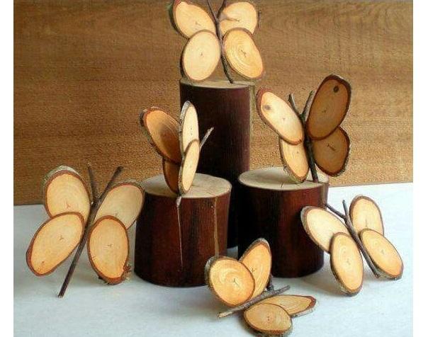 kerajinan kayu kupu-kupu