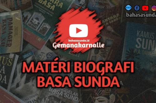 MATERI BIOGRAFI SUNDA