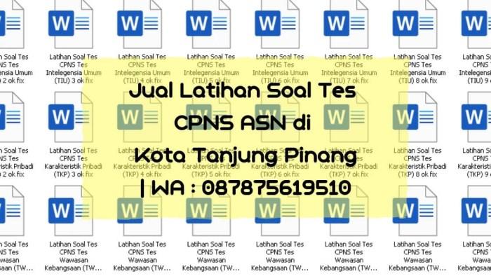 Soal Tes CPNS ASN di Tanjung Pinang
