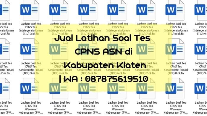 Soal Tes CPNS ASN di Kabupaten Klaten