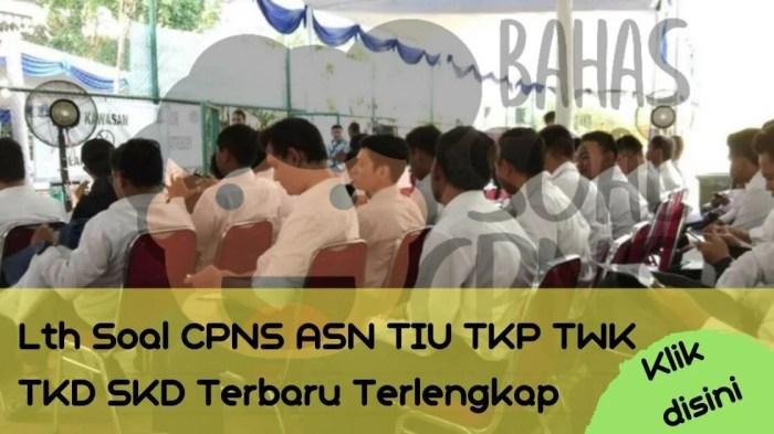 Soal Tes CPNS ASN di Kabupaten Sumba Barat Daya