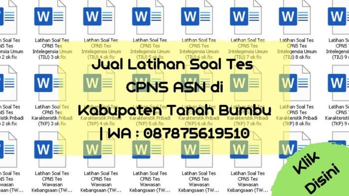 Soal Tes CPNS ASN di Kabupaten Tanah Bumbu