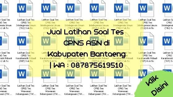 Soal Tes CPNS ASN di Kabupaten Bantaeng
