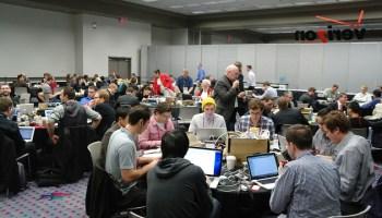 Sala de prensa del CES 2012 en Las Vegas