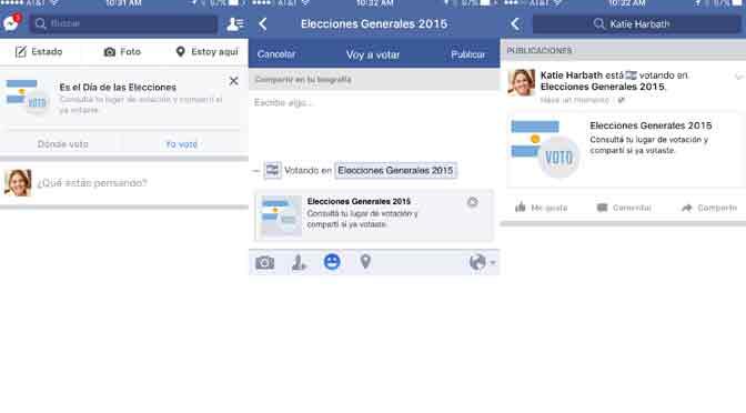 Facebook estrena su botón «Yo voté» para las elecciones argentinas
