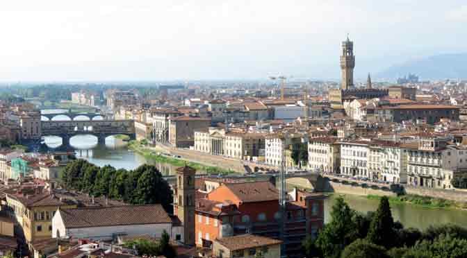 La plaza de Miguel Ángel, el mejor mirador de Florencia