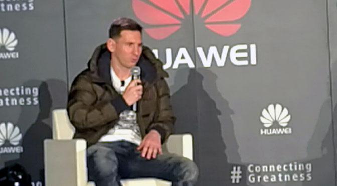 Lionel Messi ahora juega en el equipo de Huawei