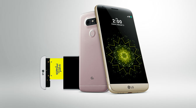 El teléfono modular LG G5 desembarca en la Argentina con «amigos»