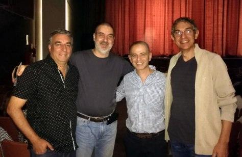 Con Pablo González, Gustavo y Alejandro Bedrossian. Teatro Gran Rivadavia, Buenos Aires, marzo.