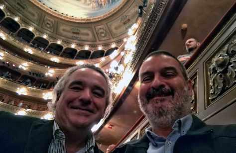 Con Carlos Pallotti. Teatro Colón, Buenos Aires, abril.
