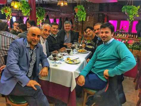 Con Walter Barnes, Mariano Denaro, Francisco Morere, Italo Daffra, Pablo Wahnon y Santiago Do Rego. Restaurante Chiquilín, Buenos Aires, junio.