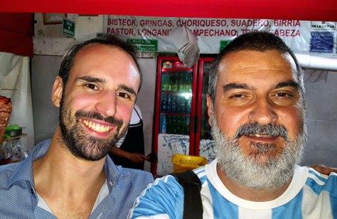 Con Matías Carrocera. Ciudad de México, 9 de julio, bicentenario de la independencia nacional de la Argentina.