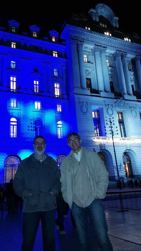 Con Alejandro Bedrossian. Centro Cultural Kirchner, Buenos Aires, agosto.