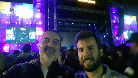 Con Federico Gallegos. Personal Fest, club GEBA, Buenos Aires, octubre.