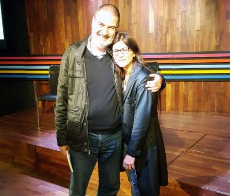 Con Alba Piotto. Margen del Mundo, Buenos Aires, octubre.