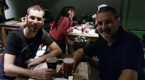 Con Gonzalo Chicote. Cervelar, Palermo, Buenos Aires, octubre.