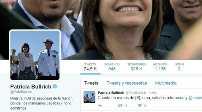 Lecciones del «hackeo» del perfil de Patricia Bullrich en Twitter