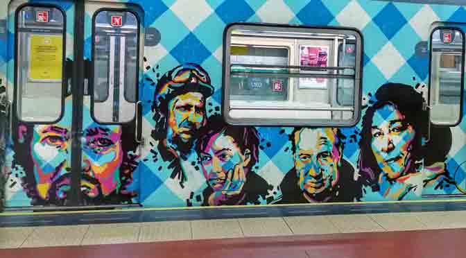 Iconos populares en el subte de Buenos Aires