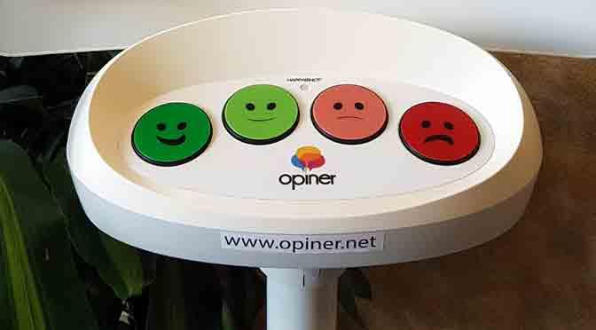 Cuatro botones para investigar la experiencia del cliente