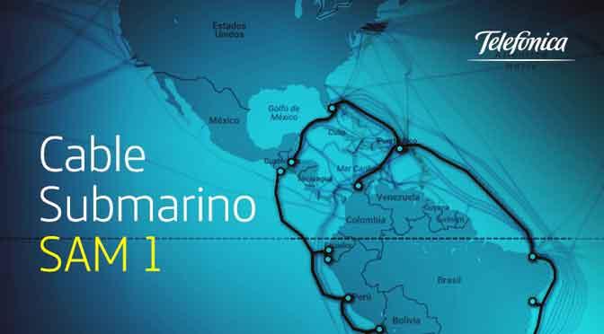 Millones de argentinos conectados al mundo por el cable submarino SAM-1 de Telefónica