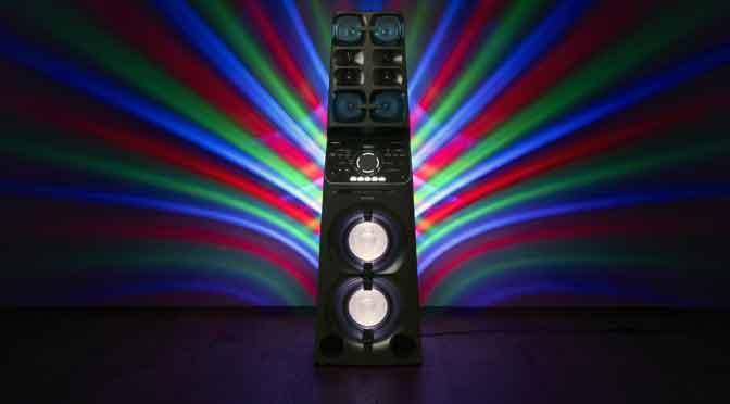 Muteki V90 de Sony: el sistema de audio para fiestas a toda potencia