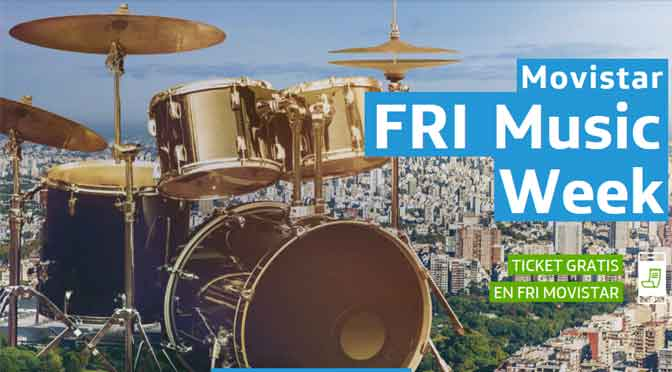 El festival Movistar Fri Music Week ofrecerá shows gratuitos en Buenos Aires
