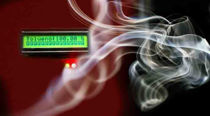 Una nariz electrónica para detectar olores de gases industriales