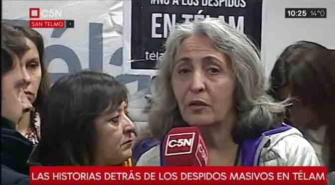 Andrea Delfino le pone el rostro a los despidos en la agencia Télam