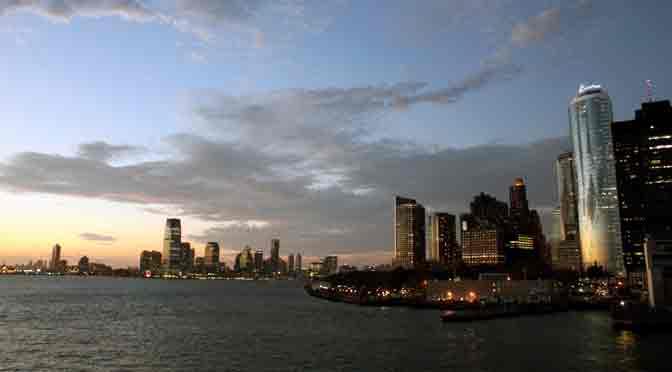 New Jersey y Manhattan desde el ferry a Staten Island