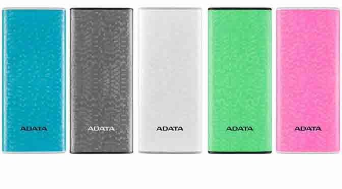 Adata presenta baterías externas con detector de billetes falsos, linterna y diseños elegantes