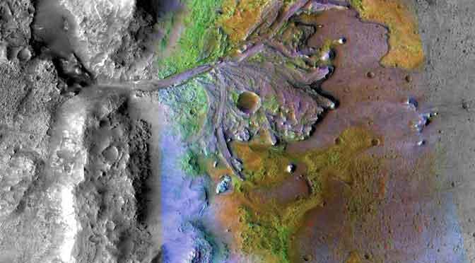 El cráter de Marte donde aterrizará el vehículo explorador de la NASA