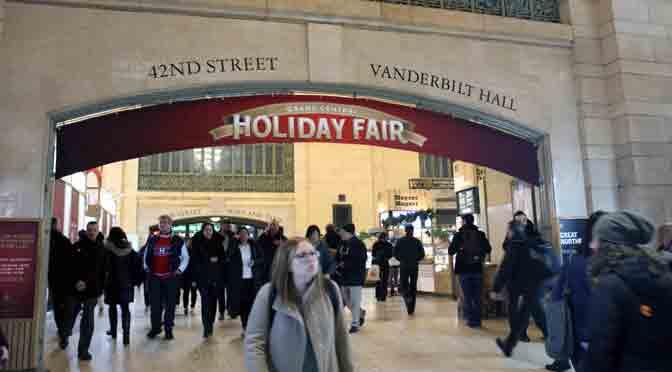 Grand Central Terminal de New York, lista para las fiestas de fin de año