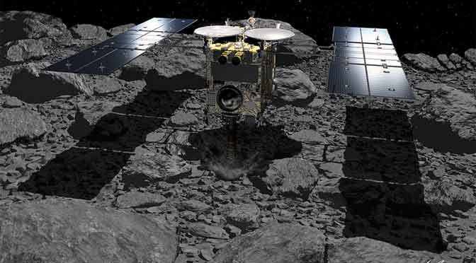 Una sonda japonesa lanza con éxito un explosivo a un asteroide