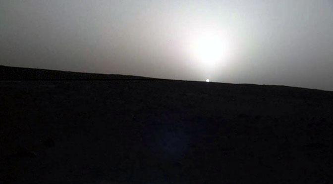 Así se ve el amanecer y el atardecer en Marte