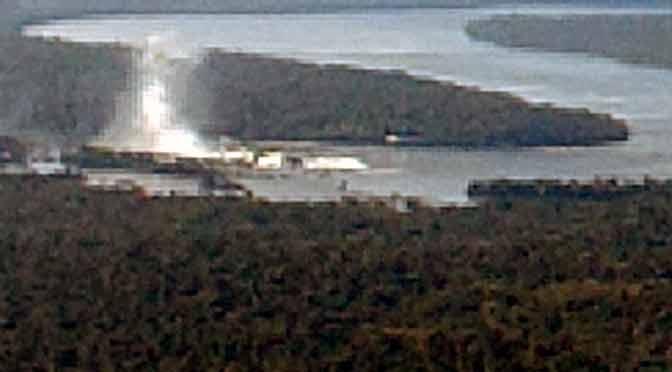 Las cataratas del Iguazú desde un avión