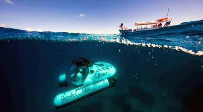 Uber lanza servicio de submarino compartido en Australia