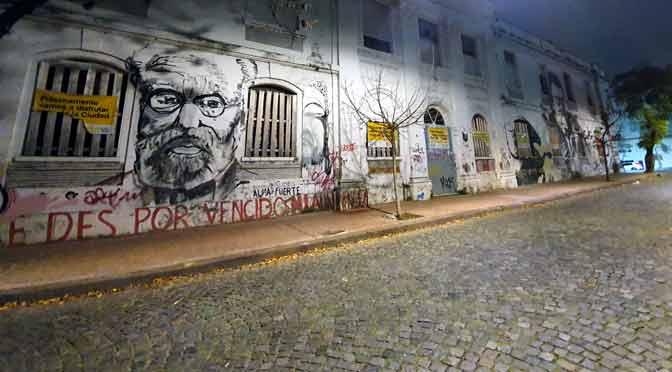 Murales en el ex Padelai, desde un Samsung Galaxy S10+