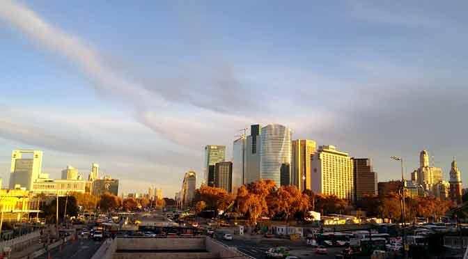 «Skyline» de Buenos Aires desde un Motorola Moto G7 Power