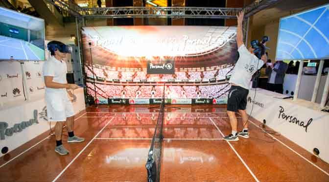 Personal y Huawei presentan el primer partido de tenis por una red 5G en la Argentina